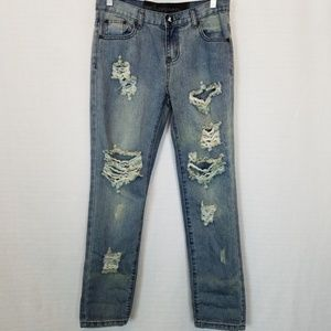One Teaspoon   Distressed Ripped Jeans 25